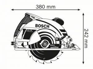 dimensions scie circulaire Bosch GKS 190